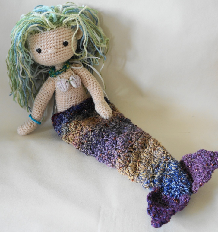 My little crochet doll mermaid