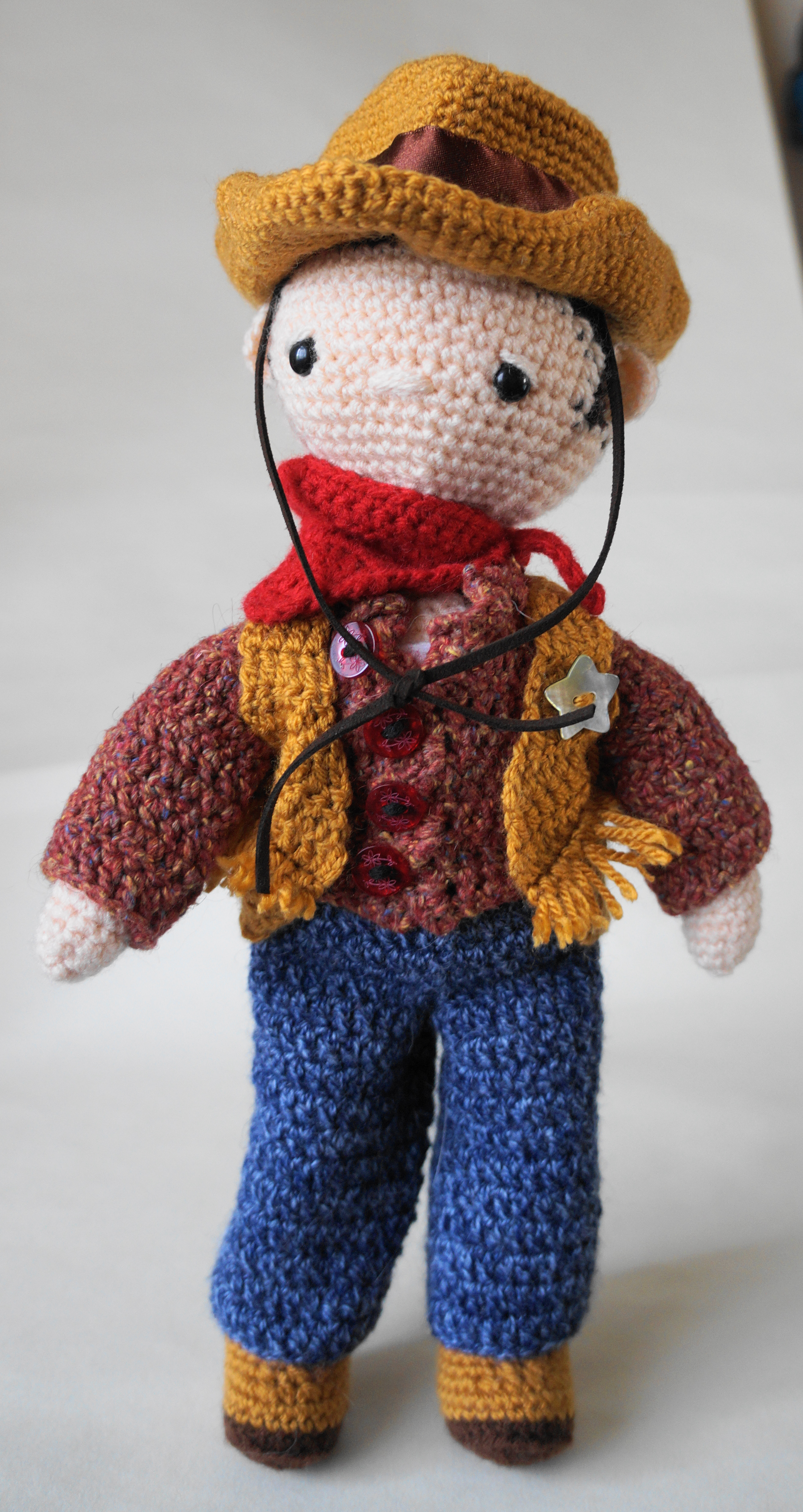 Amigurumi Cowboy Hat : The Cowboy My Little Crochet Doll Betty Virago