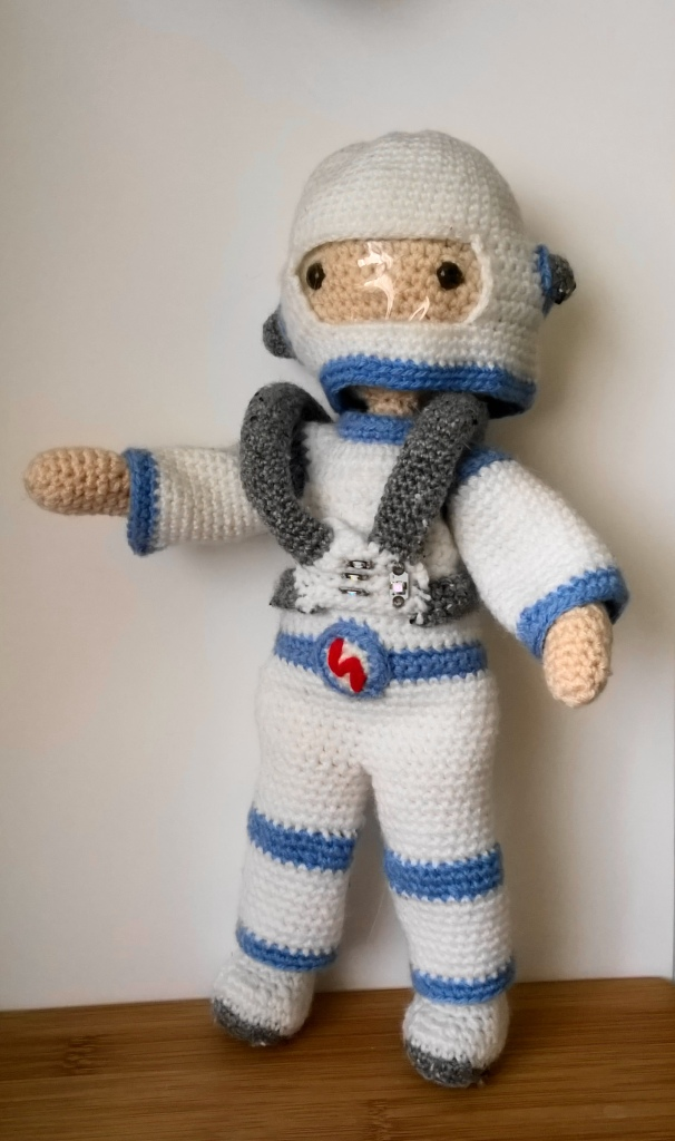 My little crochet doll spaceman